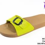 รองเท้าแตะ Monobo Jello โมโนโบ้ รุ่น เจลโล่ สวม สีมะนาว เบอร์ 5-8
