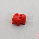 อะคลีลิค รูปช้าง สีแดง 11x14มิล (1ชิ้น)