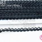 ผ้าลูกไม้ สีดำ กว้าง 11มิล (1หลา/90ซม.)