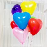 """ลูกโป่งหัวใจ สีมาตรฐาน คละสี ไซส์ 11 นิ้ว แพ็คละ 10 ใบ (Heart Latex Balloon - Mixed Standard Color 11"""")"""