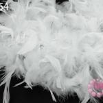 ขนนก มีดิ้น สีขาว (1เส้น)