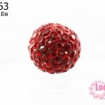 บอลเพชร เกรดดี 10 มิล สีแดง (1ชิ้น)