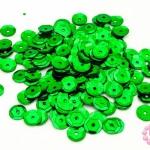 เลื่อมปัก กลม สีเขียว 8มิล(5กรัม)