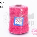 เชือกเทียน ตราลูกบอล(ม้วนใหญ่) สีชมพู #920 (1ม้วน)