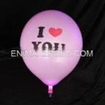 ลูกโป่งสีขาว พิมพ์ลาย I Love You แพ็ค 5 ชิ้น ไฟกระพริบ (I Love You latex Balloon - LED RGB Mode)