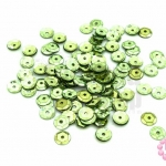 เลื่อมปัก กลม สีเขียวขี้ม้าอ่อนดิสโก้ 6มิล(5กรัม)