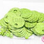 เลื่อมปัก กลมใหญ่ สีเขียวอ่อนดิสโก้ 19มิล(5กรัม)