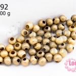 ลูกปัดทองเหลืองด้าน กลม 5มิล 100g (570เม็ด)