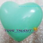 """ลูกโป่งหัวใจ สีเขียว ไซส์ 11 นิ้ว แพ็คละ 10 ใบ (Heart Latex Balloon - Green Color 11"""")"""