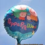 ลูกโป่งฟลอย์ การ์ตูน Papa Pig World ทรงกลม - Papa Pig World Foil Round Balloon / Item No. TL-A070