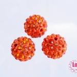 บอลเพชร เกรดดี 12 มิล สีส้มแดง