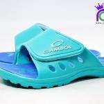 รองเท้าแตะ GAMBOL แกมโบล รุ่น GM 43102 สีเขียว/น้ำเงิน เบอร์ 4-9