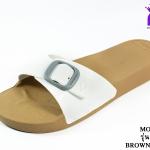 รองเท้าแตะ Monobo Jello โมโนโบ้ รุ่น เจลโล่ สวม สีขาว เบอร์ 5-8