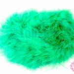 ขนมิงค์เฟอร์ สีเขียว (1เส้น)