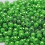 ลูกปัดมุก พลาสติก สีเขียว 3มิล (1ขีด/100กรัม)