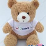 ตุ๊กตาพรีเมี่ยม World Gas-เวิล์ดแก๊ส ตุ๊กตาหมีนั่ง11นิ้ว ใส่เสื้อ+ปักโลโก้ 1ด้าน D5505Q0350