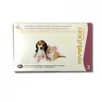Revolution สำหรับสุนัขและแมว น้ำหนักไม่เกิน 2.5 กก. - สีชมพู (1 กล่อง)