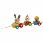ของเล่นไม้ ของเล่นเด็ก ของเล่นเสริมพัฒนาการ Animal Train Sorter (ส่งฟรี)