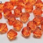 คริสตัลพลาสติก สีส้ม 10มิล (1ขีด/100กรัม)