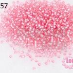 ลูกปัด Miyuki สีชมพูอ่อนสอดไส้ #1349 2มิล(10กรัม)