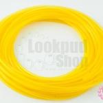 สายยางพลาสติก สีเหลืองใส 3มิล 10หลา(1เส้น)