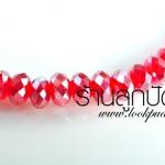 คริสตัลจีน สีแดง ทรงซาลาเปา 4 มิล