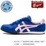Onitsuka Tiger Serrano - Monaco Blue / Cameo Pink ของแท้ มีกล่อง ป้ายครบ