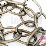 โซ่ห่วง สีทองแดง(ชุบ) 13X21มิล (1หลา/90ซม.)