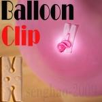 คลิปตัว H มัีดลูกโป่ง แพ็ค 20 ชิ้น - Balloon H Clip 20 pieces