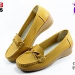 รองเท้าแฟชั่นหุ้มส้น CSB ซีเอสบี รุ่น FZ92-573 สีเหลือง เบอร์ 40