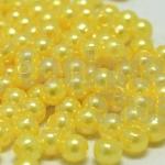 ลูกปัดมุก พลาสติก สีเหลือง 5มิล 1 ขีด (1,820ชิ้น)