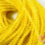 หินหยกน้ำผึ้ง เหลืองสด 4มิล 35ซม 87เม็ด (จีน)