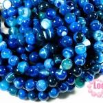 หินอาเกตดวงตา สีฟ้า 12 มิล ยาว 35 ซม มี 29 เม็ด (จีน)