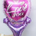บอลลูนเป่าลม พิมพ์ LOVE YOU ลายหวานๆ / Item No. TL-M016