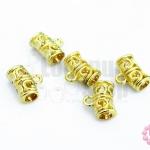ตัวห้อยจี้สีทอง ลายฉลุ 10X12มิล(5ชิ้น)