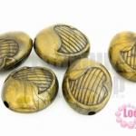จี้พลาสติกอะคลีลิค ทรงรีไข่รูปหัวใจ 26x32มิล(1ขีด/13ชิ้น)