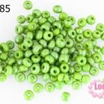 ลูกปัดจีน กลม สีเขียวอ่อนมุก 4มิล #L