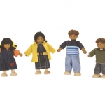 ของเล่นไม้ ของเล่นเด็ก ของเล่นเสริมพัฒนาการ Doll Family (ส่งฟรี)