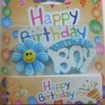เทียนวันเกิด Birthday Boy สีฟ้ามีดอกไม้ / Item No.TL-N004