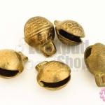 กระดิ่งพม่า ทองเหลือง ปากแบน 12มิล(10ชิ้น)