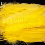 ขนนก(ก้าน) สีเหลือง 100ชิ้น