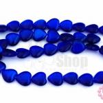 หินตาแมว หัวใจ สีน้ำเงิน 10มิล (1เส้น)