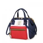 กระเป๋าถือและสะพายข้างผู้หญิง รหัส SUIF0219WR สีขาว-แดง มีซิปหน้ากระเป๋า เก๋ค่ะ