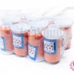 เชือกเทียน ตราลูกบอล(ม้วนเล็ก) สีส้ม (12ม้วน)