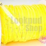 เชือกผ้า ริบบิ้นกำมะยี่ สีเหลือง (1ม้วน/50หลา)