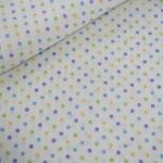 ผ้าฝ้ายญี่ปุ่น ลายจุดหลากสี ขนาด 3 mm จาก Lecien ตัดเสื้อได้ หรือ ทำผ้ารองซับๆใน สำหรับกระเป๋า กุ้นขอบ ฯลฯ เนื่อดีราคาประหยัดค่ะ