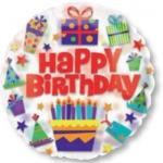 ลูกโป่งฟลอย์นำเข้า Bright Birthday Icons / Item No. AG-26901 แบรนด์ Anagram ของแท้