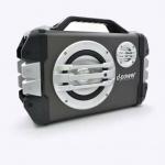 D-POWER K52B ลำโพงบลูทูธ+วิทยุ หูหิ้ว เสียบไมค์ได้ ให้เสียงดังกระหึม)) + รีโมท เล่น USB / Mem ได้ - สีเทาดำ