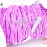 เชือกผ้า ริบบิ้นกำมะยี่ สีม่วง (1ม้วน/50หลา)