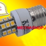 SMD105 หลอดไฟ LED E27-5050 SMD 3.8W 220V สีขาวอมเหลือง 3000K ยี่ห้อ SET รุ่น E27-5050